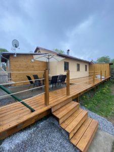 Dům u Jezera - terasa - Lipno, ubytování, pronájem