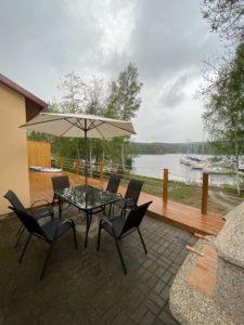 Dům u Jezera posezení na terase - Lipno, ubytování, pronájem